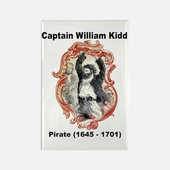Captain William Kidd Pirate Rectangle Magnet