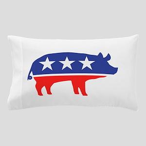 Political Party Pig Mascot Pillow Case