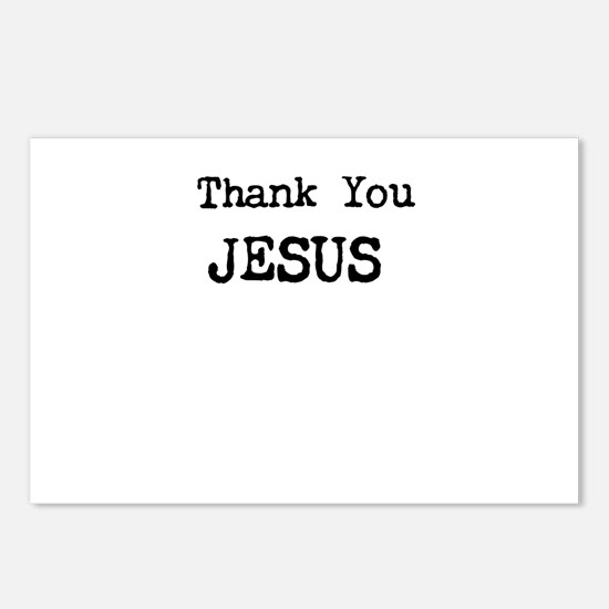 Thank You Jesus Postcards (Package of 8)
