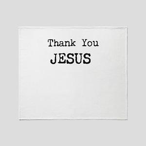 Thank You Jesus Throw Blanket