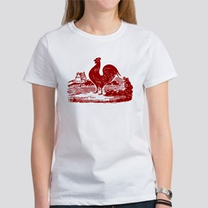 Red Farmyard Rooster T-Shirt