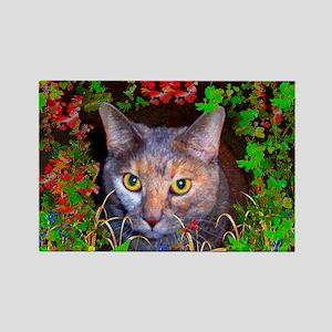 Yellow-Eyed Cat Art Rectangle Magnet