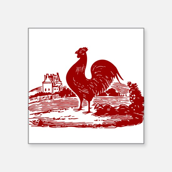 Red Farmyard Rooster Sticker