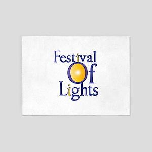 Festival Of Lights 5'x7'Area Rug