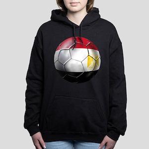 Egypt Soccer Ball Women's Hooded Sweatshirt