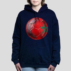 Moroccan Soccer Ball Women's Hooded Sweatshirt