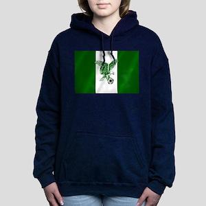 Nigerian Football Flag Women's Hooded Sweatshirt