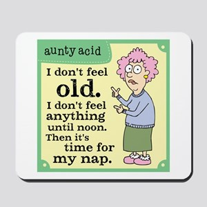 Aunty Acid: Time to Nap Mousepad