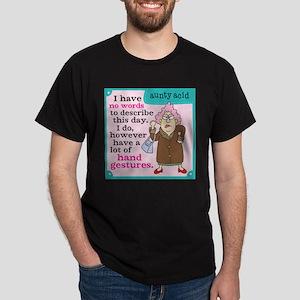 Aunty Acid: Hand Gestures Dark T-Shirt