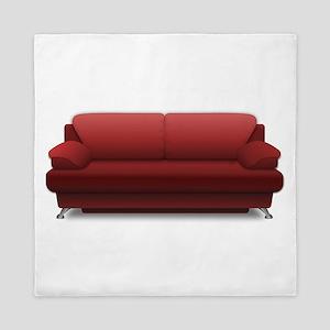 Red Sofa Queen Duvet