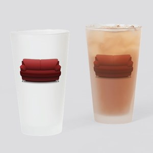Red Sofa Drinking Glass