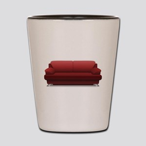 Red Sofa Shot Glass