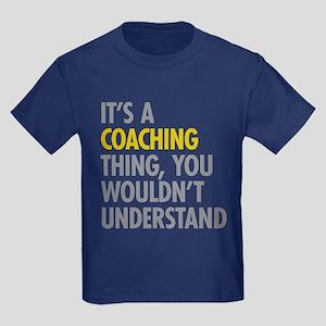 Its A Coaching Thing Kids Dark T-Shirt