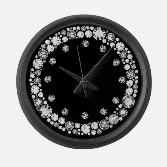Diamond Infinity Large Wall Clock