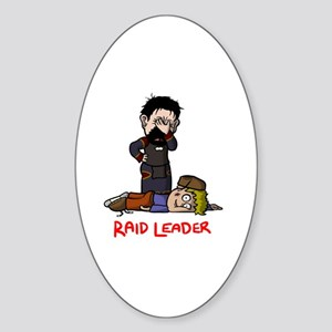 Raid Leader (Krom) Sticker (Oval)