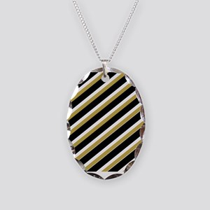 Team Colors...Black,gold Necklace Oval Charm