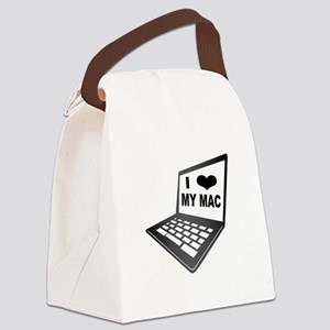I Love My Mac Canvas Lunch Bag
