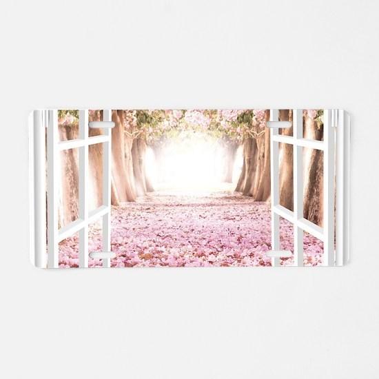 Romantic View Aluminum License Plate