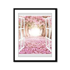 Romantic View Framed Panel Print