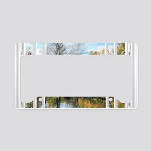 Lake View License Plate Holder