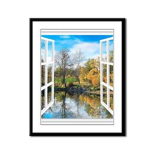 Lake View Framed Panel Print