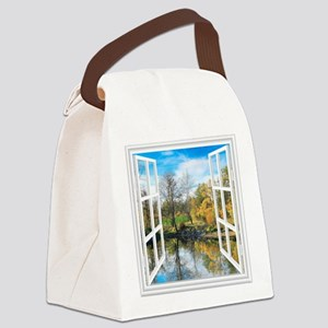 Lake View Canvas Lunch Bag