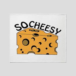 So Cheesy Throw Blanket