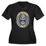 USS KALAMAZO Women's Plus Size V-Neck Dark T-Shirt