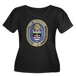 USS KALA Women's Plus Size Scoop Neck Dark T-Shirt