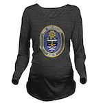 USS KALAMAZOO Long Sleeve Maternity T-Shirt
