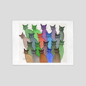 New England Stray Cats 5'x7'area Rug