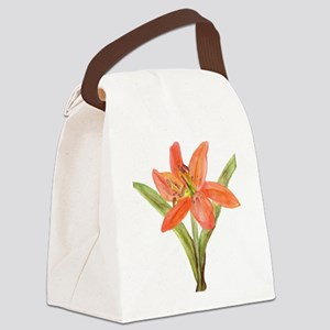 Tiger Lily Canvas Lunch Bag
