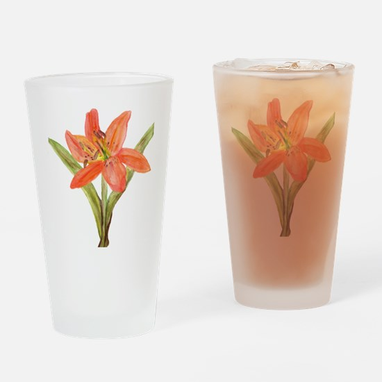 Tiger Lily Drinking Glass