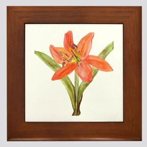 Tiger Lily Framed Tile