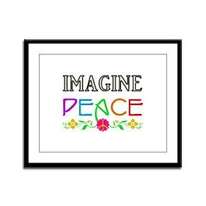 Imagine Peace Framed Panel Print