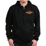 Ringtail Maori Wrasse c Zip Hoodie