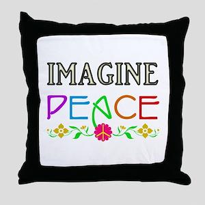 Imagine Peace Throw Pillow
