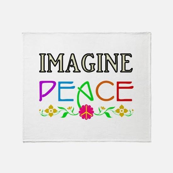 Imagine Peace Throw Blanket