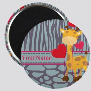 Custom Giraffe, Zebra Animal Print Magnet
