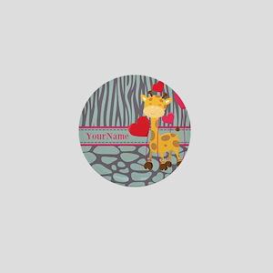 Custom Giraffe, Zebra Animal Print Mini Button