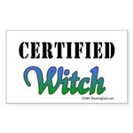 """""""Certified Witch"""" Rectangle Sticker"""