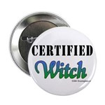 """""""Certified Witch"""" Button"""