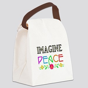 Imagine Peace Canvas Lunch Bag