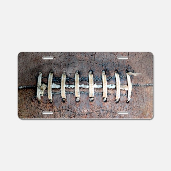 Cute Football Aluminum License Plate