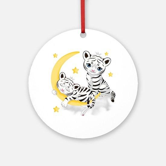 White Tigers - Ornament (round)