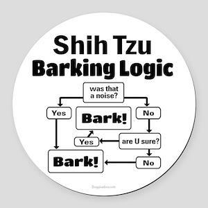 Shih Tzu Logic Round Car Magnet