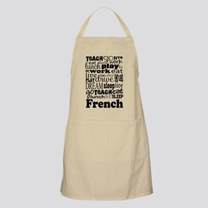 French Teacher quote Apron
