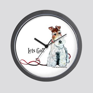 Fox Terrier Walk Wall Clock