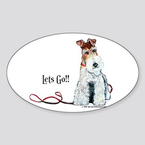 Fox Terrier Walk Sticker (Oval)