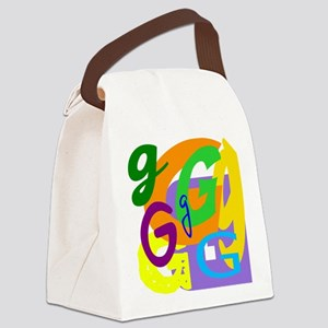 Initial Design (G) Canvas Lunch Bag